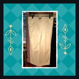 Ann Taylor Petites Cream Trousers - Sz. 6